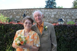 Lächelndes, älteres Ehepaar